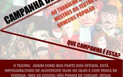 Campanha: Apoio aos brincantes e mestres do Teatro Popular de Bonecos do Nordeste